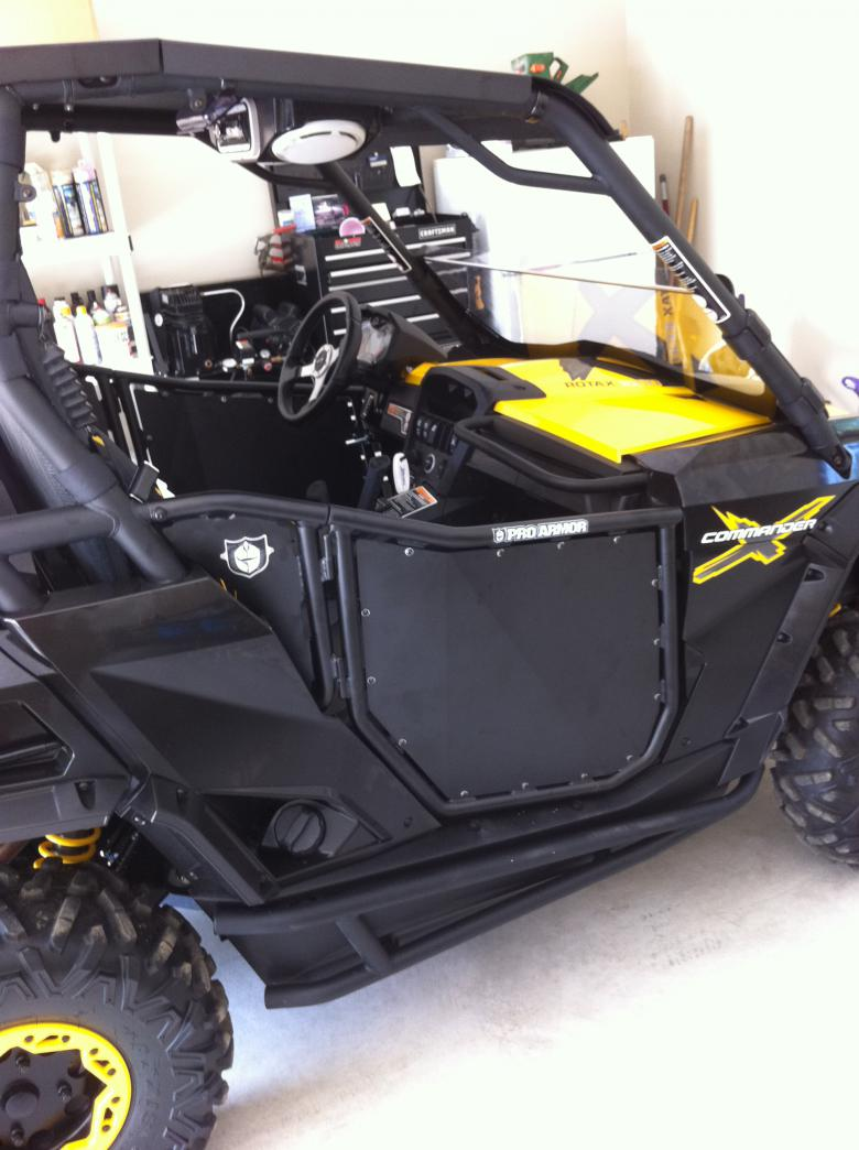 ... Click image for larger version Name 029.jpg Views 3376 Size 86.3 & Pro Armor Door Install - Page 2 - Can-Am Commander Forum