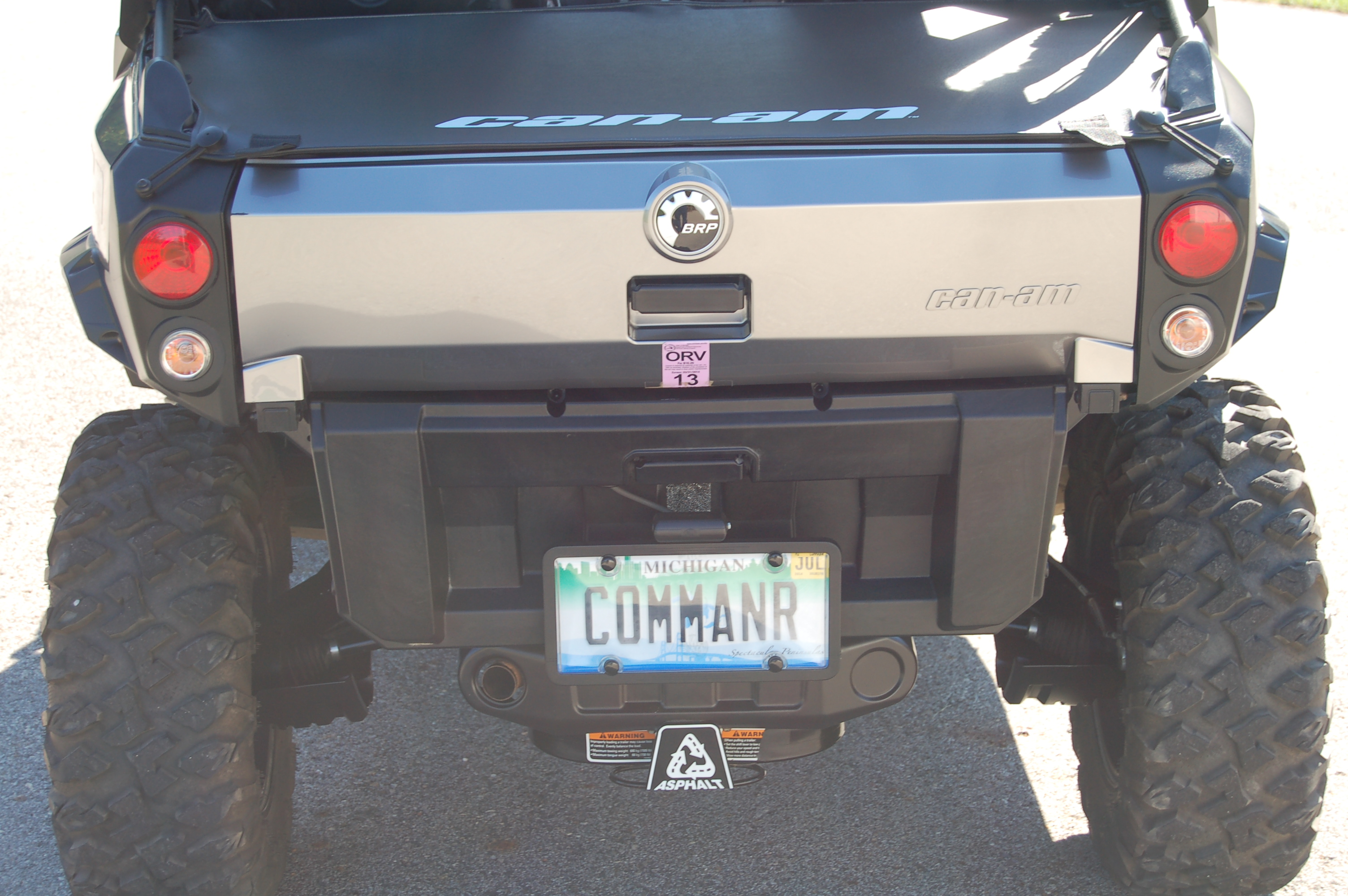 Don T Follow Canam Instructions For License Plate Bracket