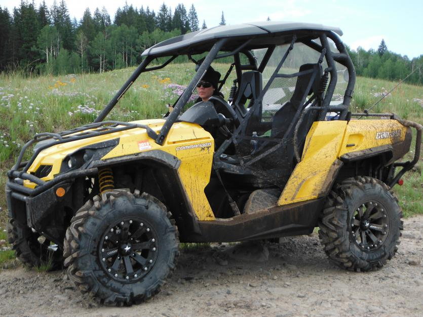 Tested out the new tires yesterday!!! - Can-Am Commander Forum