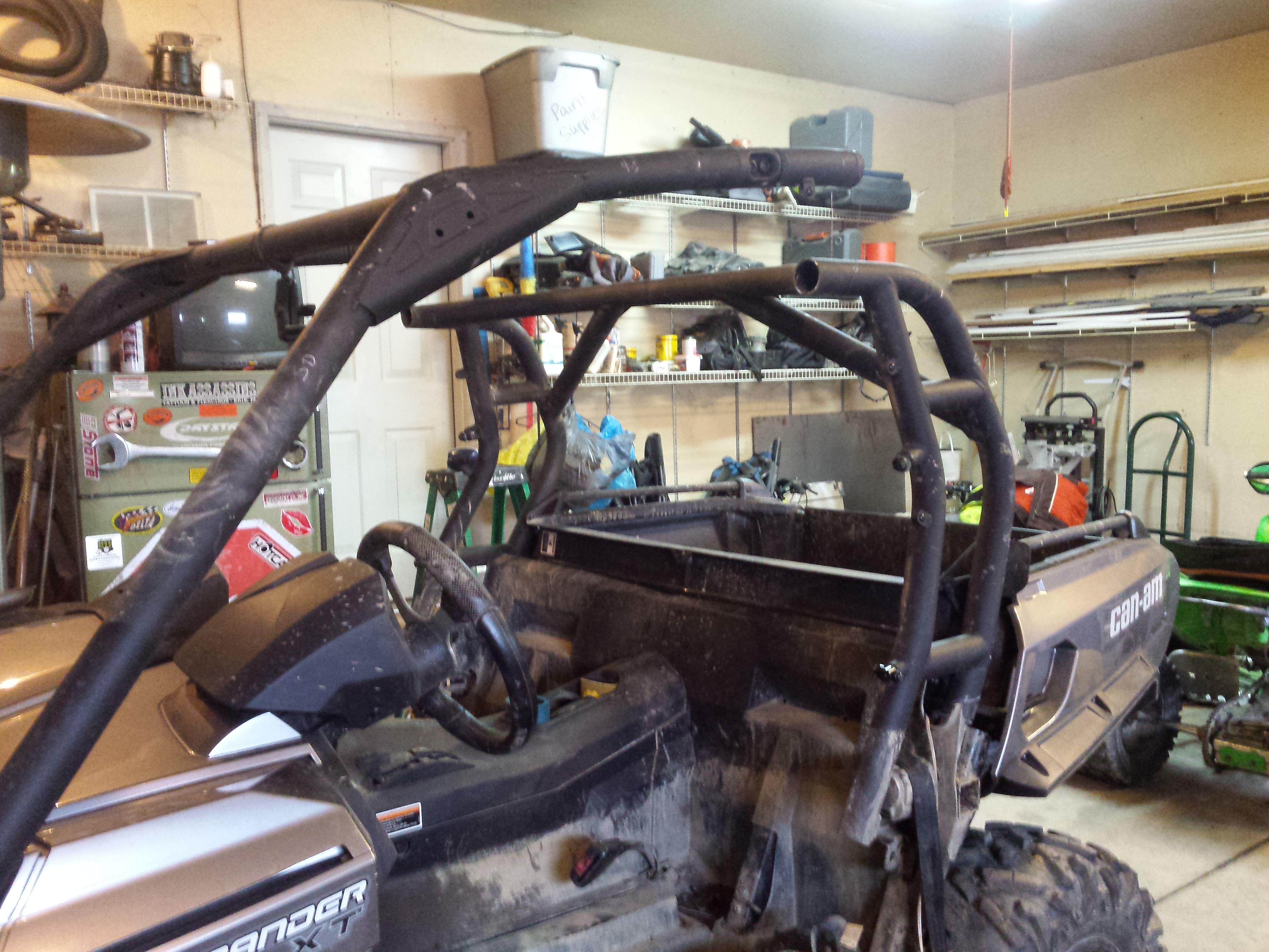 Custom Cage And Bumper Almost Done Can Am Commander Forum