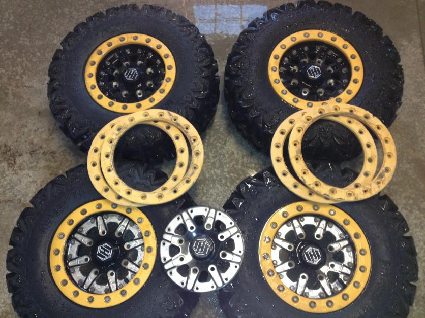 Can Am Commander For Sale >> FS--Hiper beadlock wheels and ripsaw tires!!! - Can-Am ...