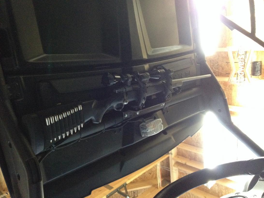 Home Made Gun Rack Can Am Commander Forum