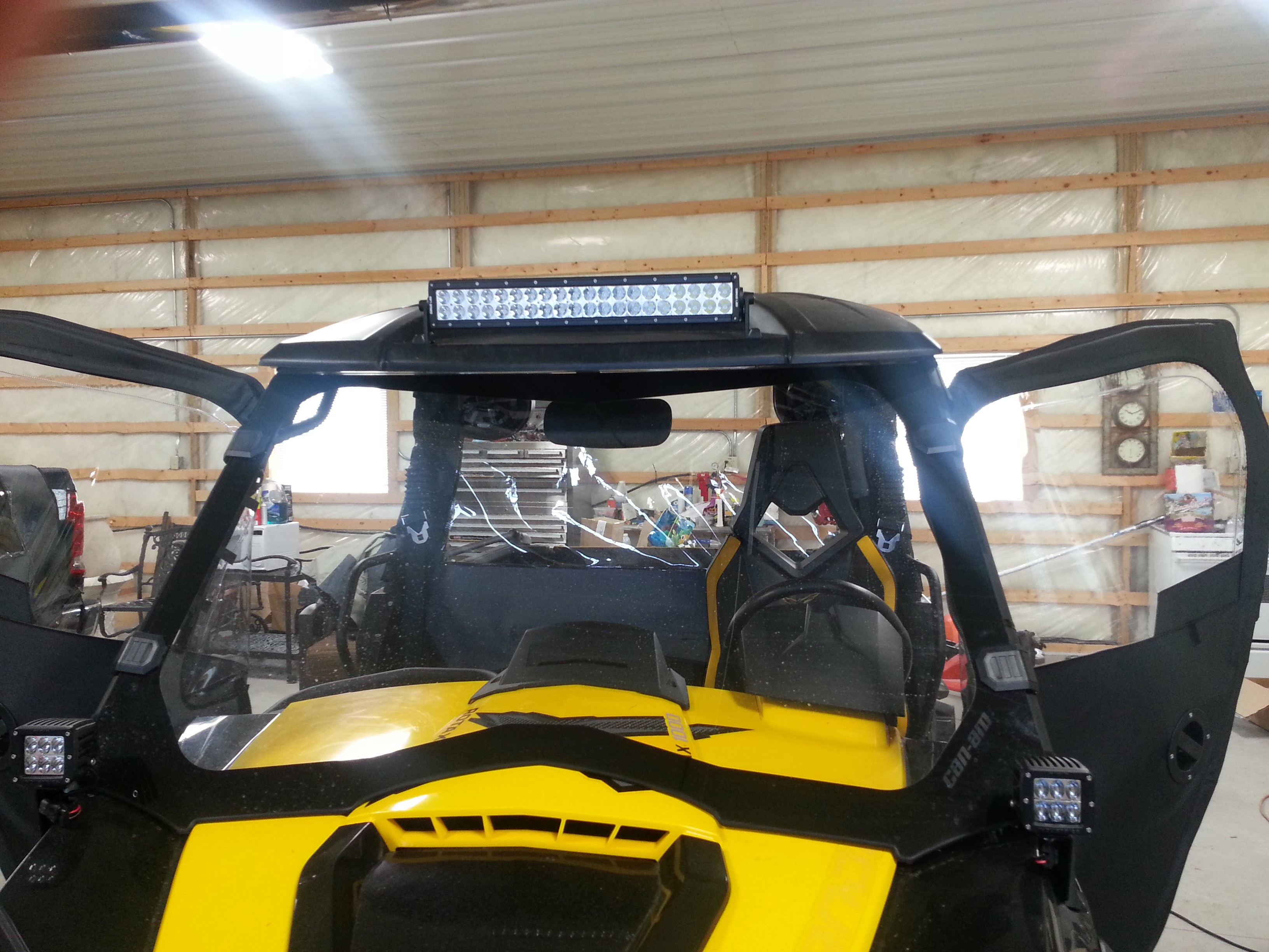 Led light bar mounted on sport visor can am commander forum click image for larger version name imageg views 2336 size 111 mozeypictures Image collections