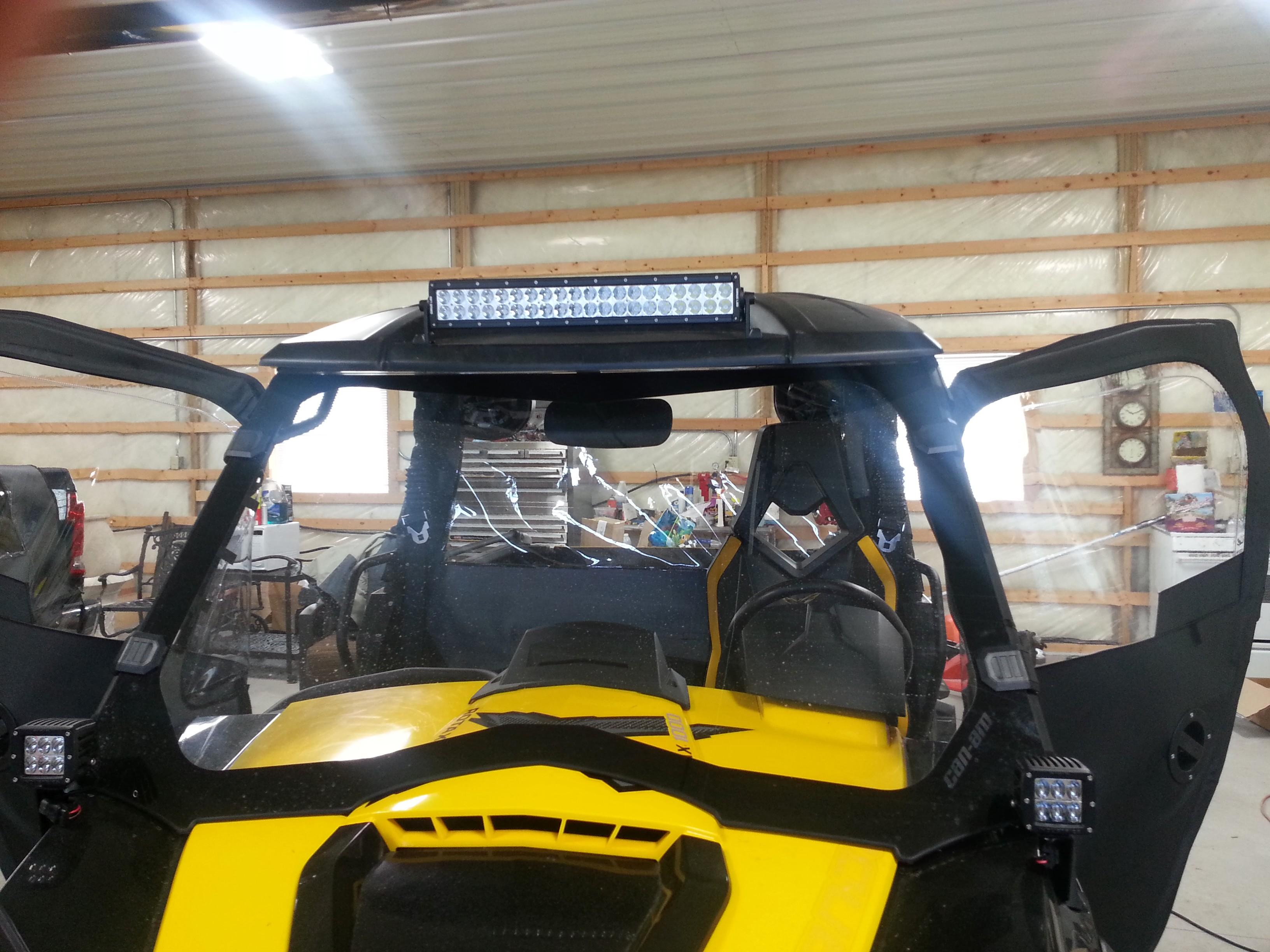 Led Light Bar Mounted On Sport Visor Can Am Commander Forum