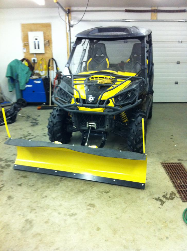 Installed my eagle snow plow last weekend can am commander forum click image for larger version name img0165g views 3702 size 917 publicscrutiny Image collections