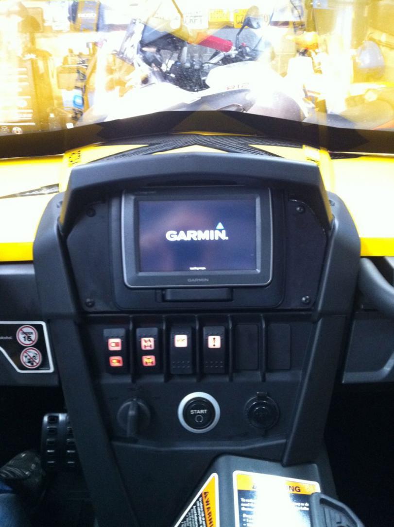 Garmin GPSMAP 640 installed - Can-Am Commander Forum