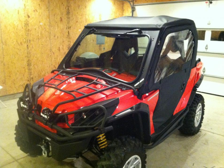 New can-am windshield with csi cab enclosure - Can-Am