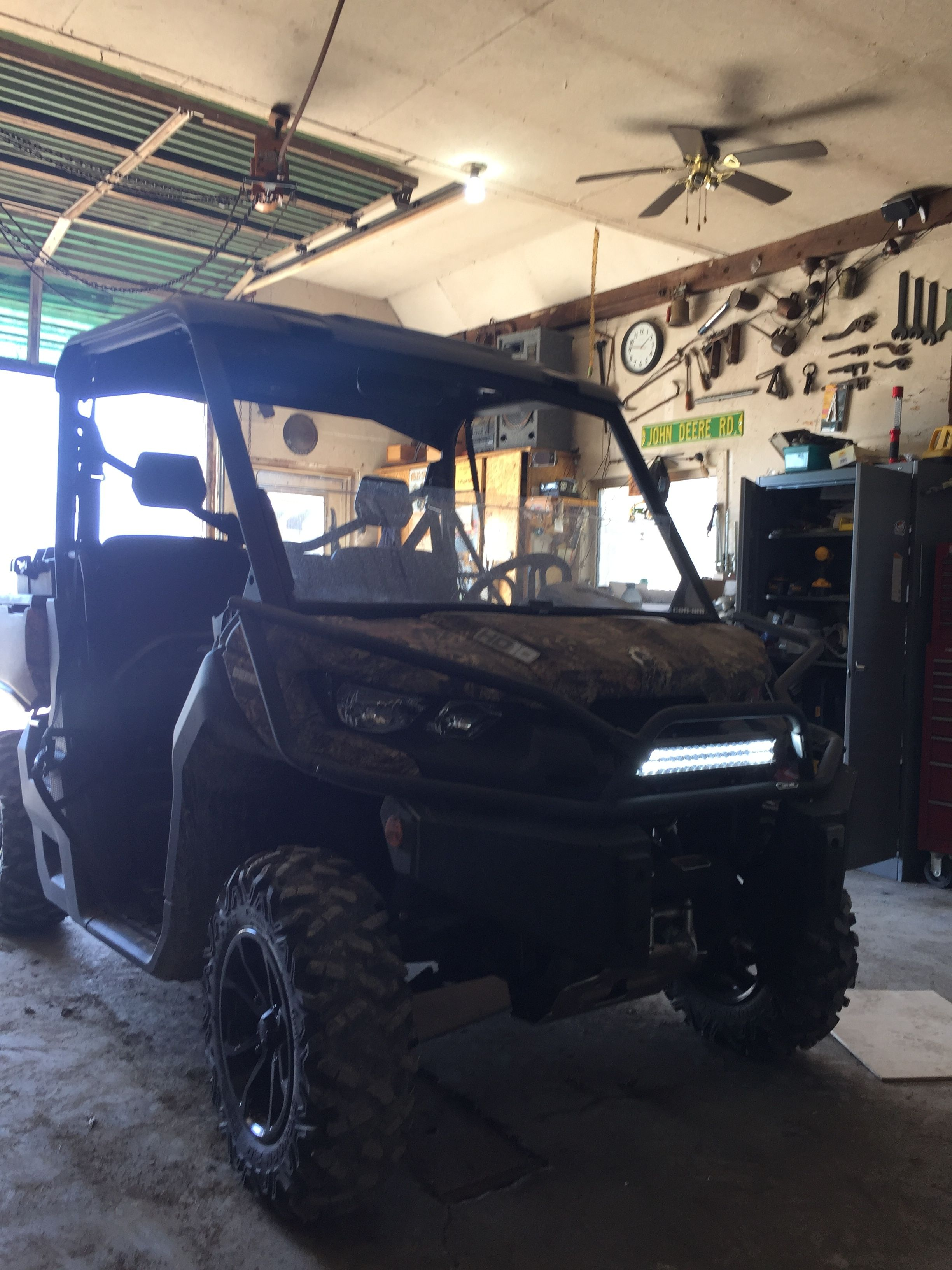 Installed 17 Quot Light Bar Can Am Commander Forum
