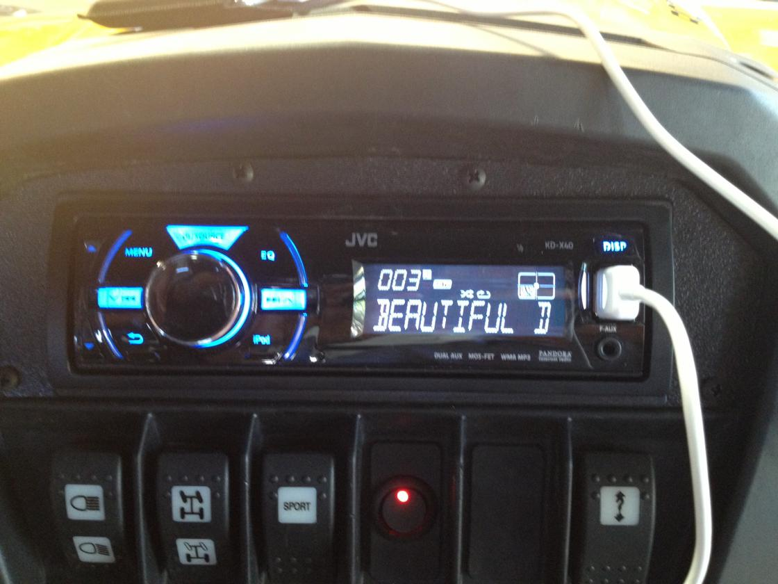 Amplifier Mounting Other Than Glove Box Can Am Commander