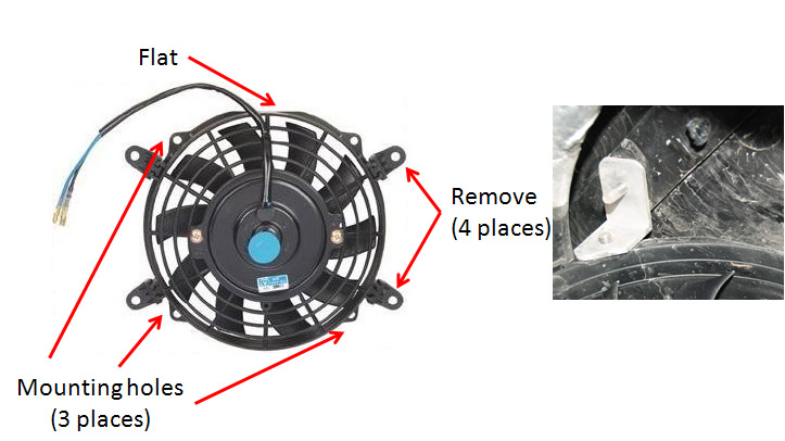 center console cooling fan