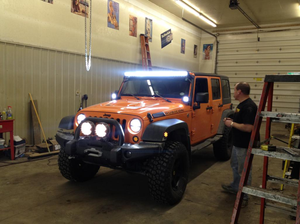 40 light bar with brp roof page 3 can am commander forum click image for larger version name rigid 50 inch led 007g views aloadofball Choice Image