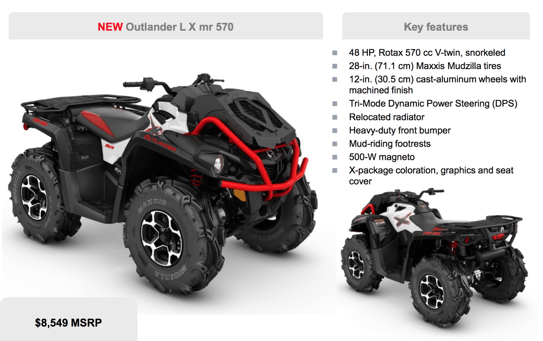 Thoughts outlander lx mr 570 vs highlifter 850 can am commander forum